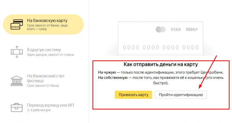 Яндекс Деньги перевод на карту: новые требования и правила от 19.10.2018